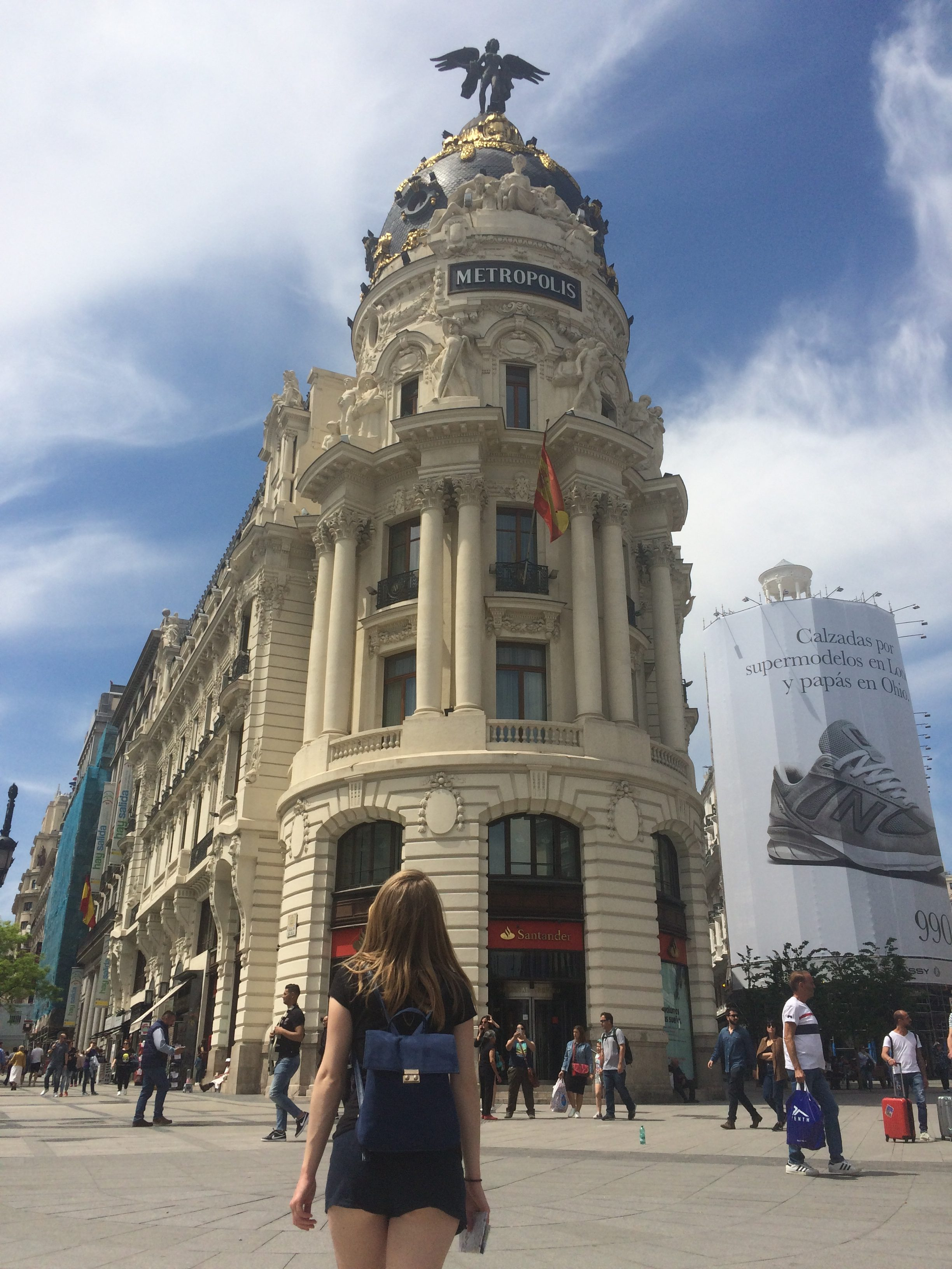 The buildings along the Gran Via are nothing short of spectacular