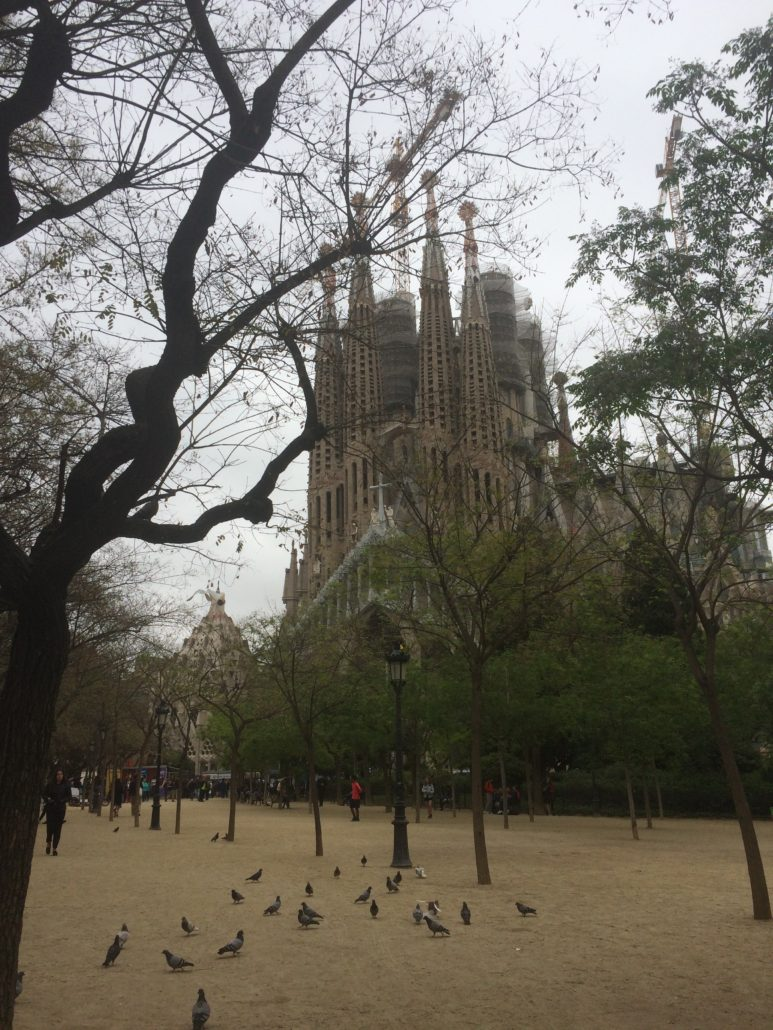 The outsided of La Sagrada Familia