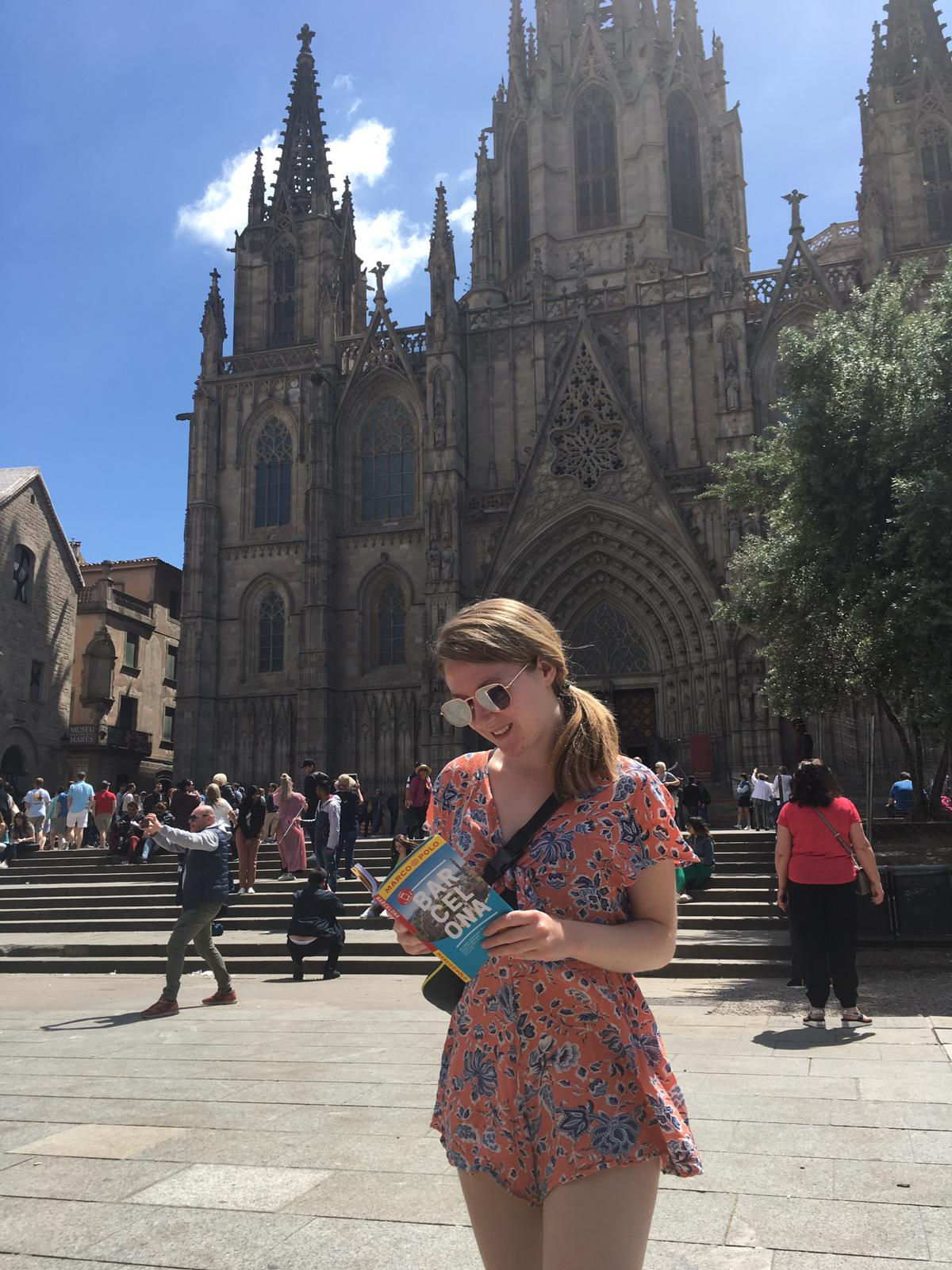 reading the barcelona book in barcelona!