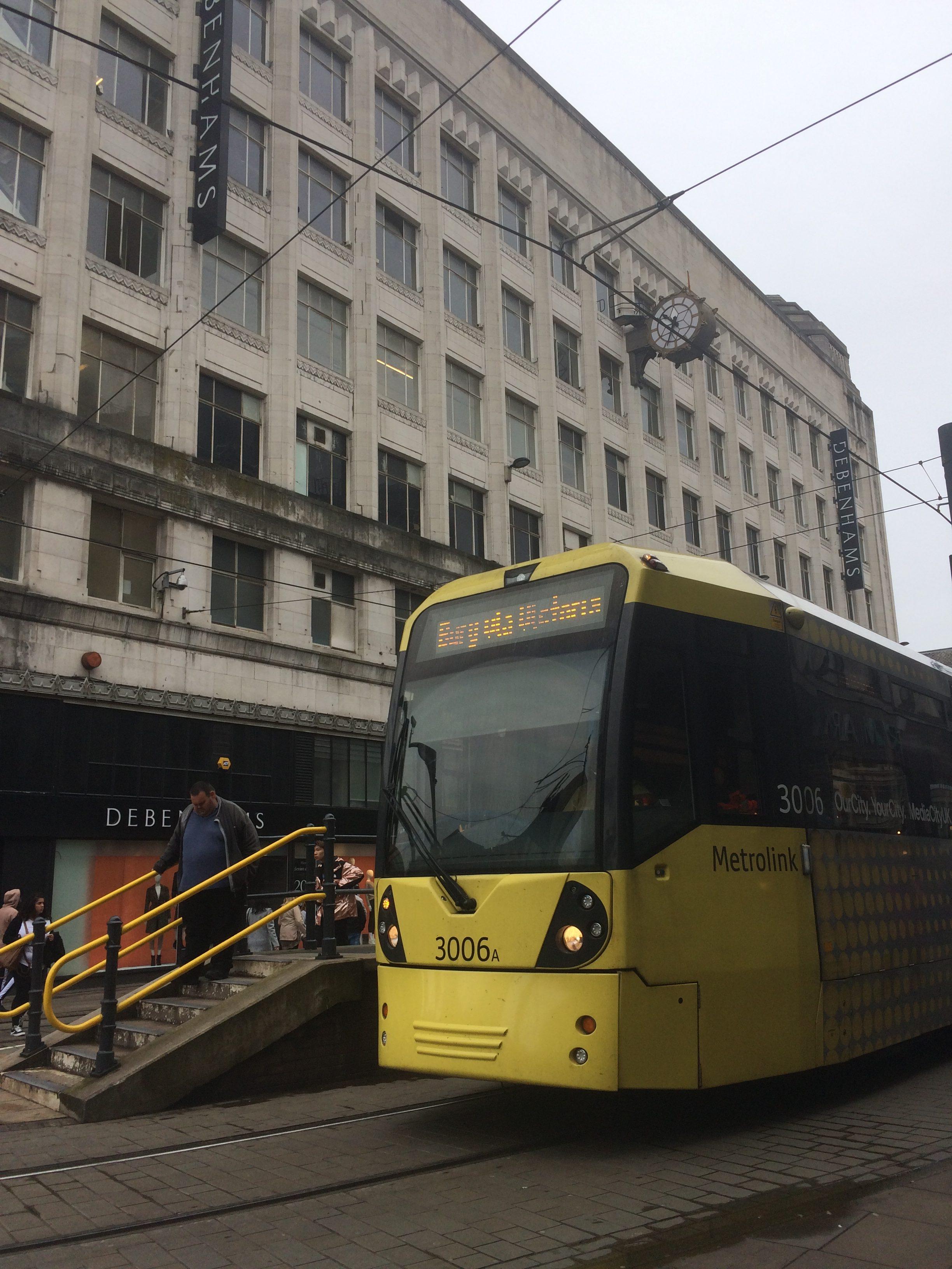 a Manchester tram